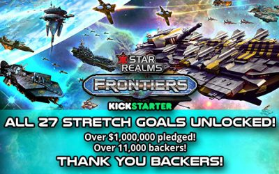 Star Realms Frontiers Kickstarter $1M – Press Release