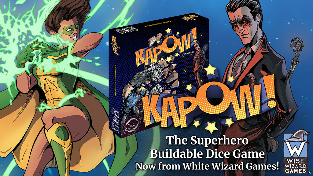 Introducing KAPOW! A Fast and Furious Buildable Dice Superhero Game