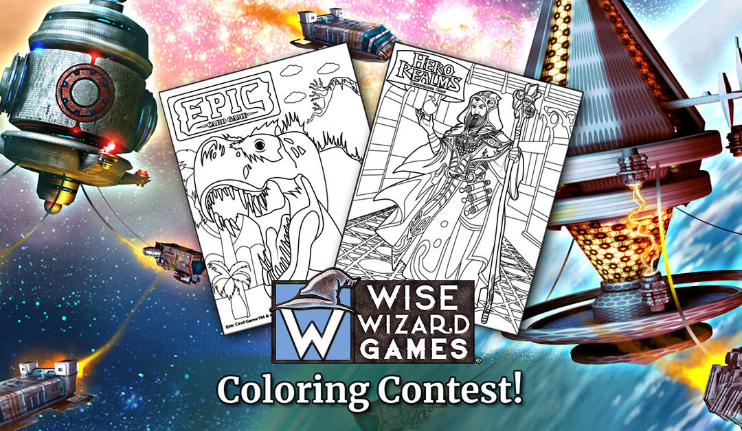 Wise Wizard Games April Coloring Contest!