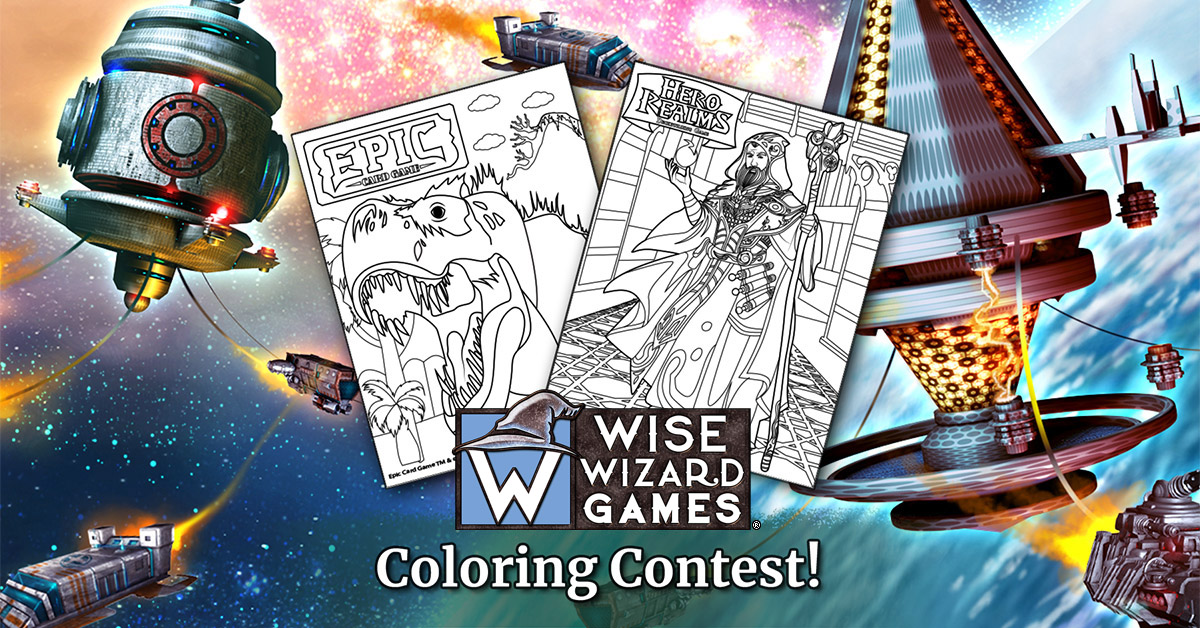 White Wizard Games April Coloring Contest!